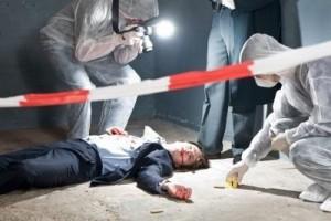 Murder mystery scene