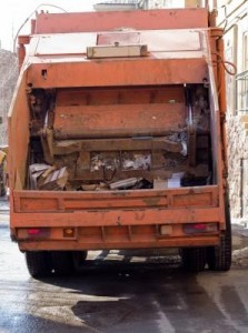 Garbage truck of stooge-driver from secret-agents